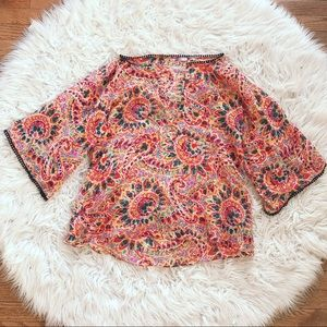 • Calypso St. Barth • Floral Print Blouse Small